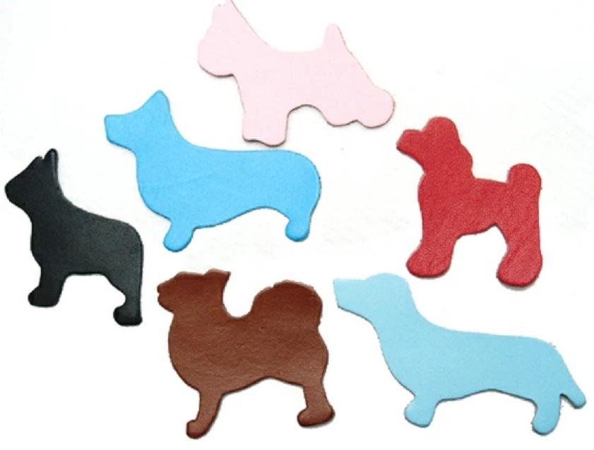 革パーツ飾り 犬